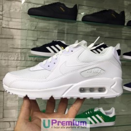 Nike Air Max 90 Essential Mesh Tessuto Total White 2016