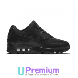 Nike Air Max 90 Mesh Total Black Tutte Nere Pelle 724824 001