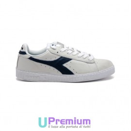 Diadora Game Waxed Bianche Basse Low Effetto Dirty