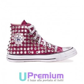 Converse All Star Bordeaux Stone Rock Borchiate