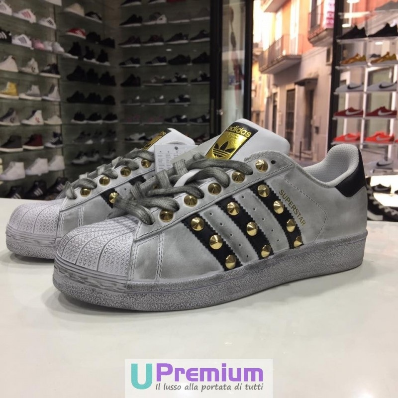 new style ce092 689e9 Adidas Superstar  80 Deluxe Vintage Bianche Strisce Nere C77124 ...