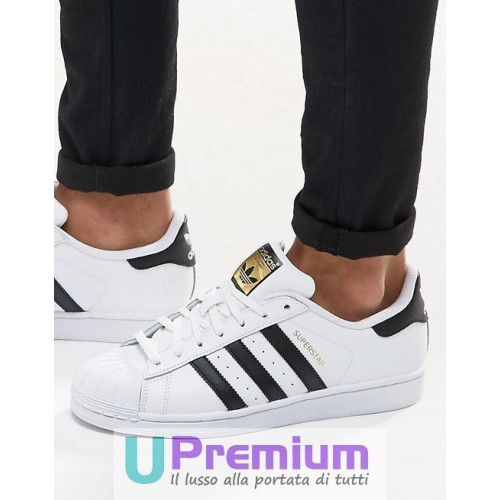 newest 5a3a5 1d10f Adidas Superstar  80 Deluxe Vintage Bianche Strisce Nere C77124. ‹ ›