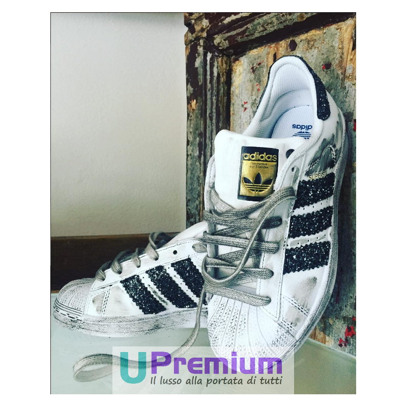 various colors aa597 afa58 adidas superstar bianche strisce argento