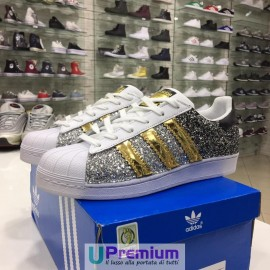 Adidas Superstar Silver Black Gold 2017
