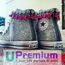 Converse All Star Jewel Glitter Grigio Scuro
