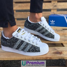 Adidas Superstar Black Glitter Exclusive 2016 [Prodotto Customizzato]